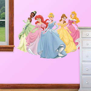 Small Disney Princesses Fathead Vinyl Wall Decal Collection
